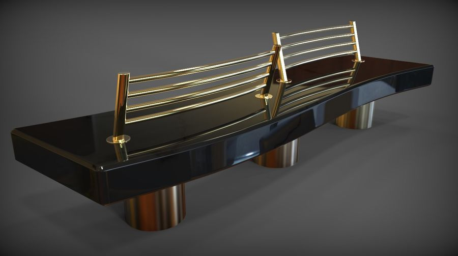 Marble Bench royalty-free 3d model - Preview no. 33