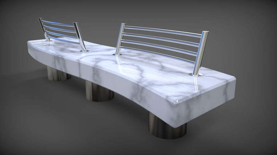Marble Bench royalty-free 3d model - Preview no. 25