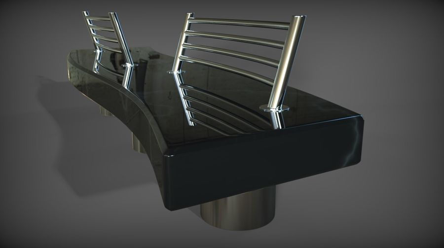 Marble Bench royalty-free 3d model - Preview no. 19