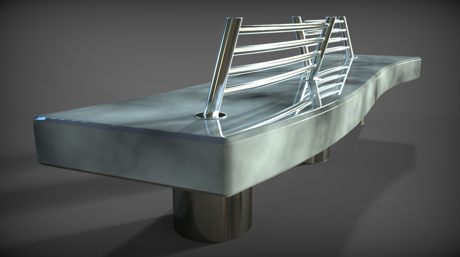 Marble Bench royalty-free 3d model - Preview no. 14