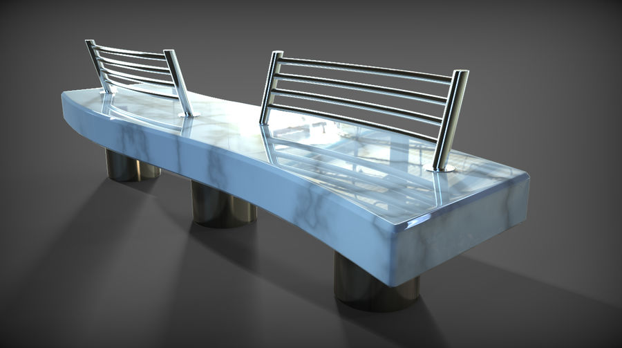 Marble Bench royalty-free 3d model - Preview no. 26