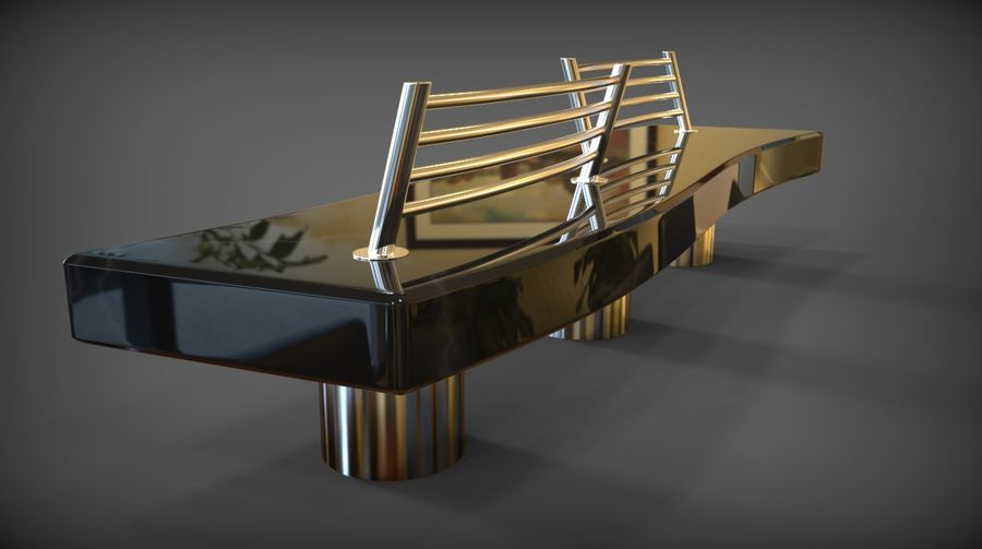 Marble Bench royalty-free 3d model - Preview no. 20