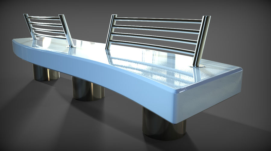 Marble Bench royalty-free 3d model - Preview no. 28