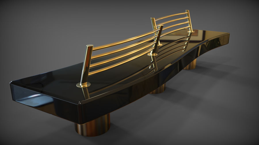 Marble Bench royalty-free 3d model - Preview no. 31