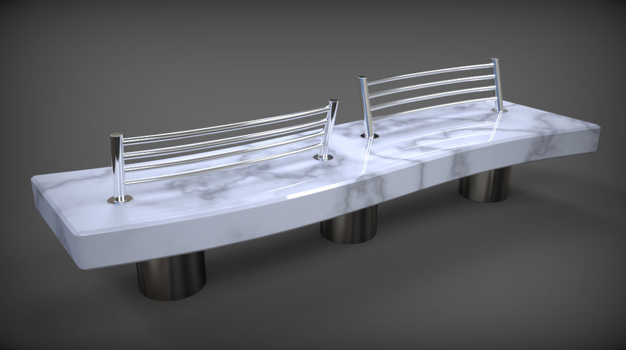 Marble Bench royalty-free 3d model - Preview no. 24
