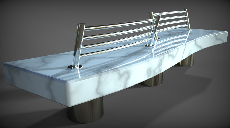 Marble Bench royalty-free 3d model - Preview no. 27