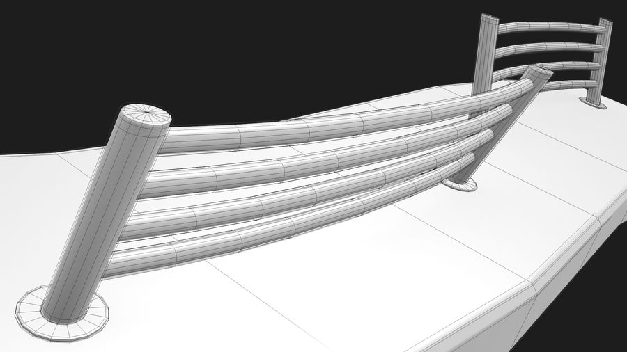 Marble Bench royalty-free 3d model - Preview no. 37