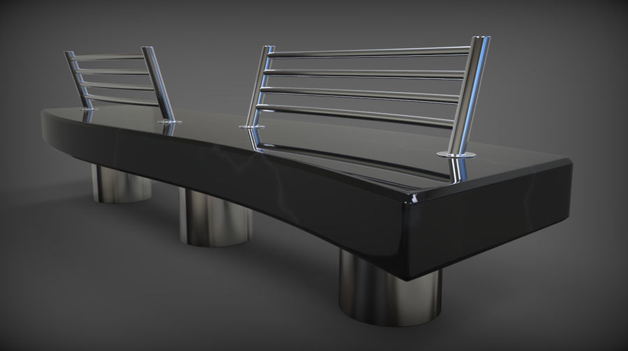 Marble Bench royalty-free 3d model - Preview no. 21