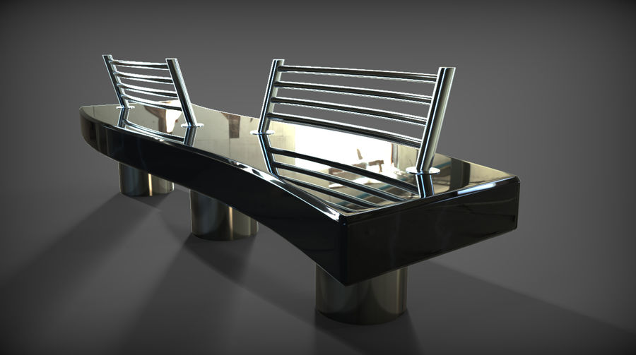 Marble Bench royalty-free 3d model - Preview no. 18