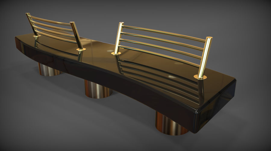 Marble Bench royalty-free 3d model - Preview no. 32