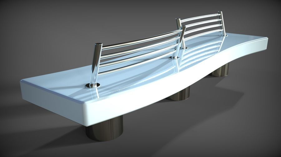 Marble Bench royalty-free 3d model - Preview no. 29