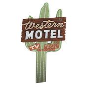 Western Motel Sign 3d model