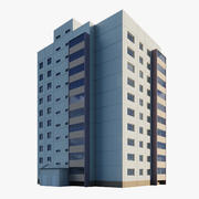 Moduł narożny budynku mieszkalnego 3d model