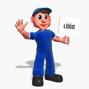 Cartoon Worker Man 3d model