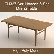 Dining Table CH327 of Carl Hansen & Son (High Poly model) 3d model