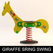 Action4kids儿童游乐场设备:长颈鹿弹簧秋千|春季骑手|弹簧摇杆 3d model