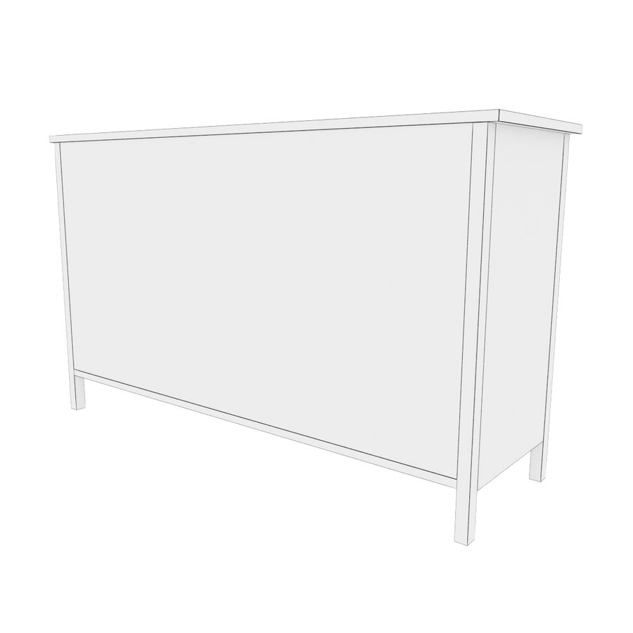 Ikea Hemnes 8 drawer chest royalty-free 3d model - Preview no. 5