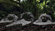 Rock cave entrance set 3d model