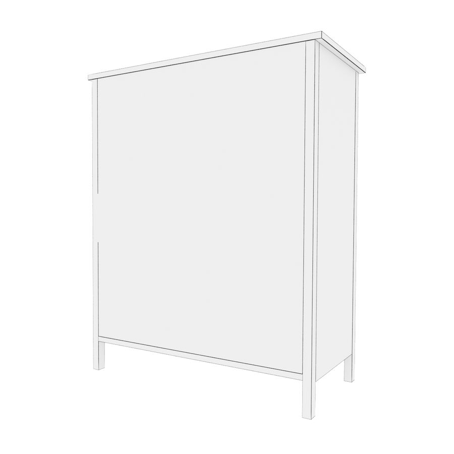 Ikea Hemnes 6ladekast royalty-free 3d model - Preview no. 5