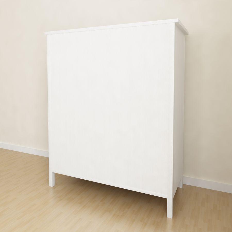 Ikea Hemnes 6引き出しチェスト royalty-free 3d model - Preview no. 3
