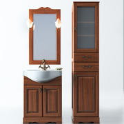 Set of bathroom furniture 3d model