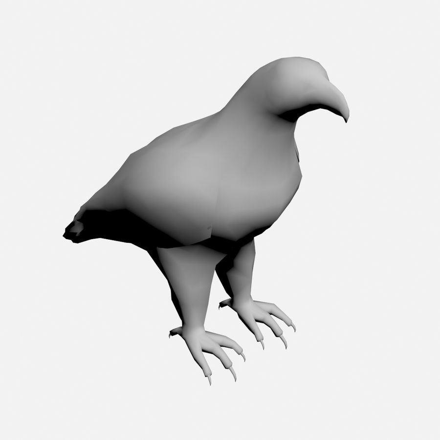 Bald eagle royalty-free 3d model - Preview no. 7