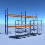 pacchetto rack industriale 3d model