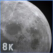 8k måne 3d model