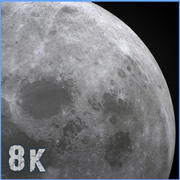 8k Moon 3d model