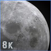 8k luna modelo 3d