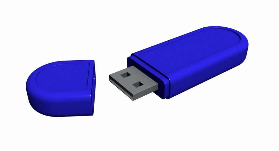 USB Flash drive royalty-free 3d model - Preview no. 5