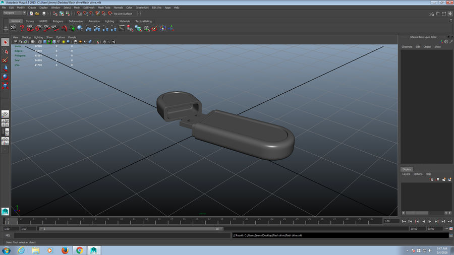 USB Flash drive royalty-free 3d model - Preview no. 16