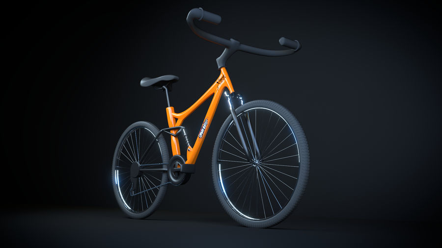 自転車 royalty-free 3d model - Preview no. 1