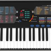 Synthesizer Keyboard: C4D Model 3d model