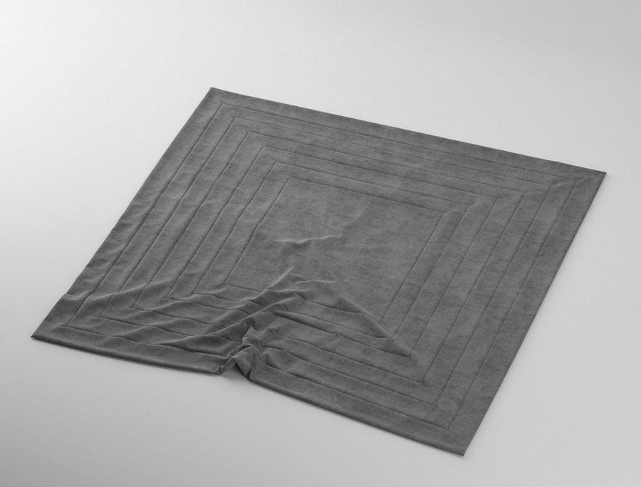 Carpet rug with Wrinkles 3D Model $9