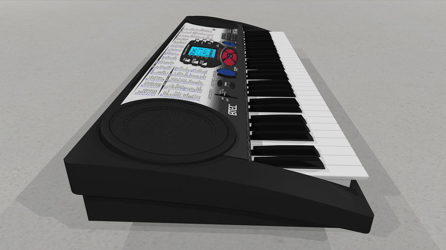 Synthesizer Keyboard royalty-free 3d model - Preview no. 30