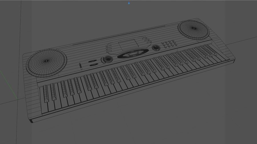 Synthesizer Keyboard royalty-free 3d model - Preview no. 11
