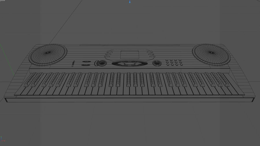 Synthesizer Keyboard royalty-free 3d model - Preview no. 7