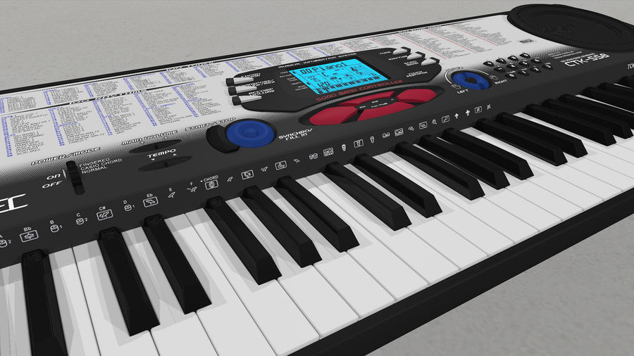 Synthesizer Keyboard royalty-free 3d model - Preview no. 22