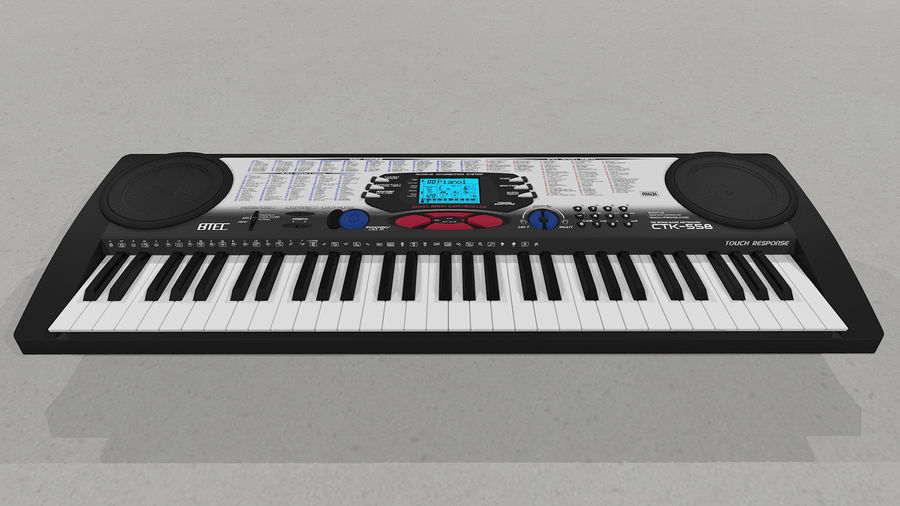 Synthesizer Keyboard royalty-free 3d model - Preview no. 6