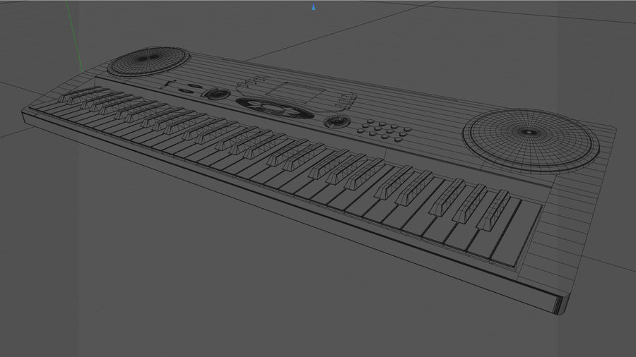 Synthesizer Keyboard royalty-free 3d model - Preview no. 13