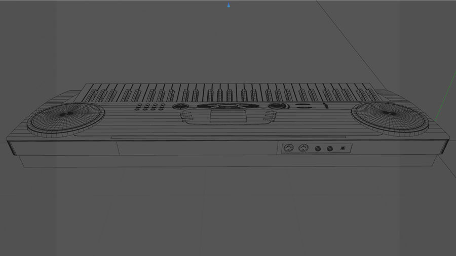 Synthesizer Keyboard royalty-free 3d model - Preview no. 15
