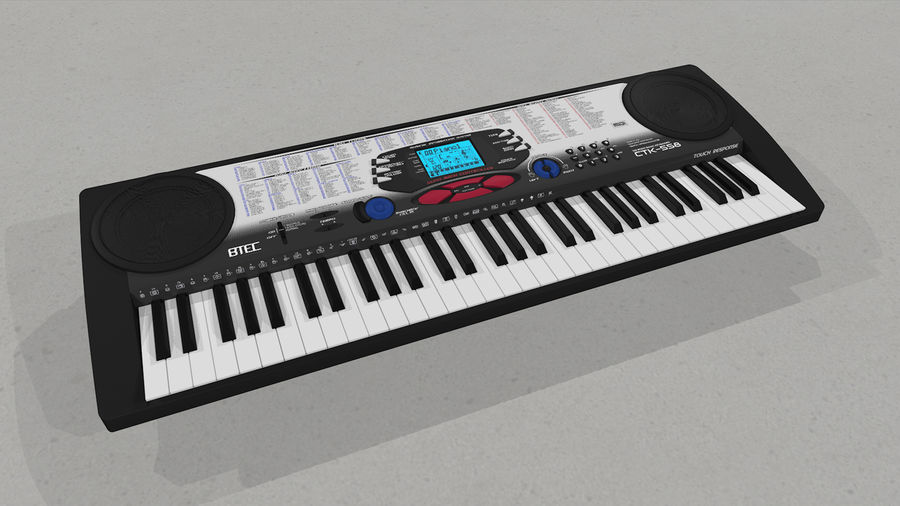 Synthesizer Keyboard royalty-free 3d model - Preview no. 10