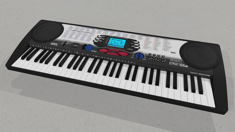 Synthesizer Keyboard royalty-free 3d model - Preview no. 8