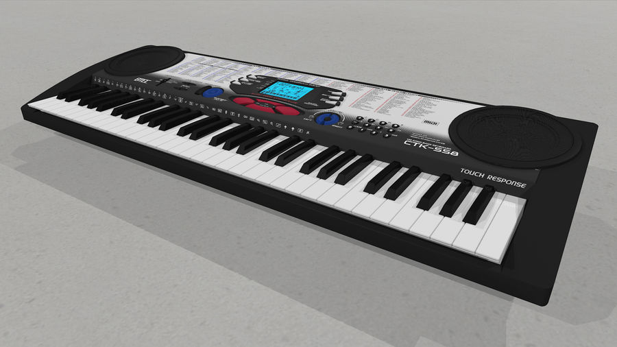 Synthesizer Keyboard royalty-free 3d model - Preview no. 12