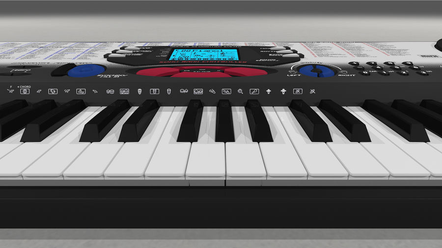 Synthesizer Keyboard royalty-free 3d model - Preview no. 24