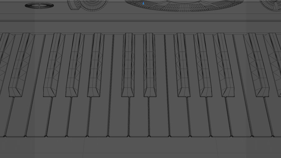 Synthesizer Keyboard royalty-free 3d model - Preview no. 33