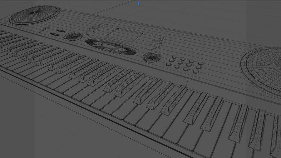 Synthesizer Keyboard royalty-free 3d model - Preview no. 35