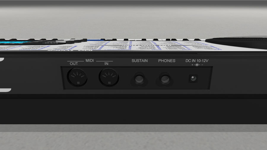 Synthesizer Keyboard royalty-free 3d model - Preview no. 28