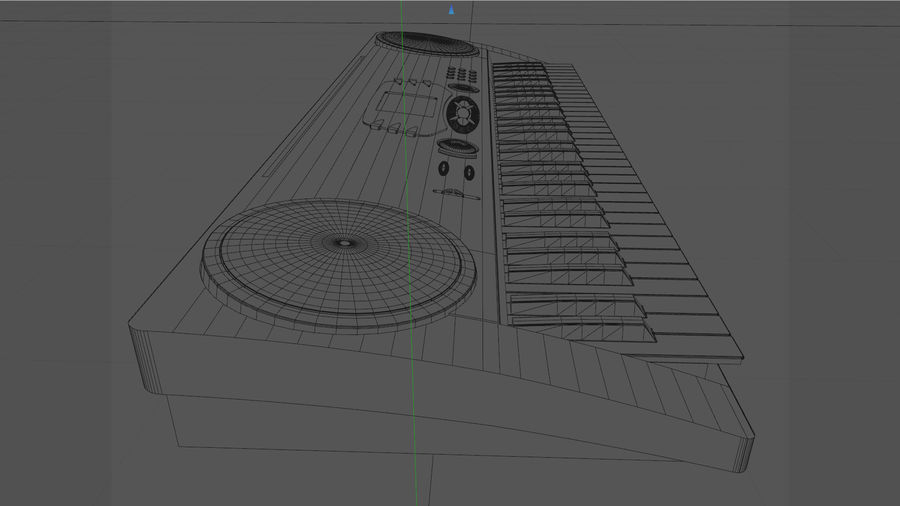 Synthesizer Keyboard royalty-free 3d model - Preview no. 31